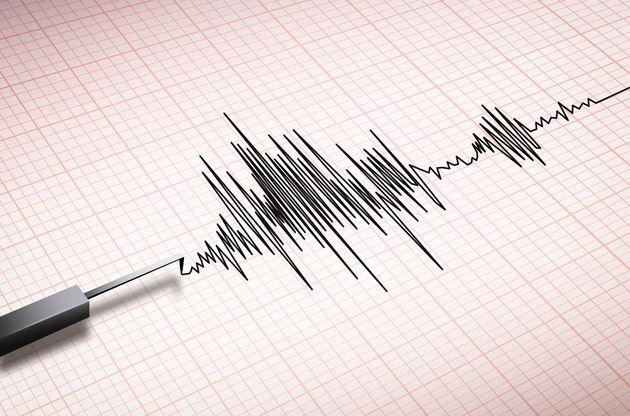 Closeup of a seismograph machine
