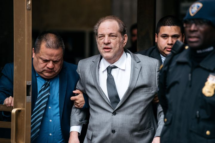 Accused rapist Harvey Weinstein, pictured after a recent bail hearing, said he deserves a pat on the back for pushing the cau