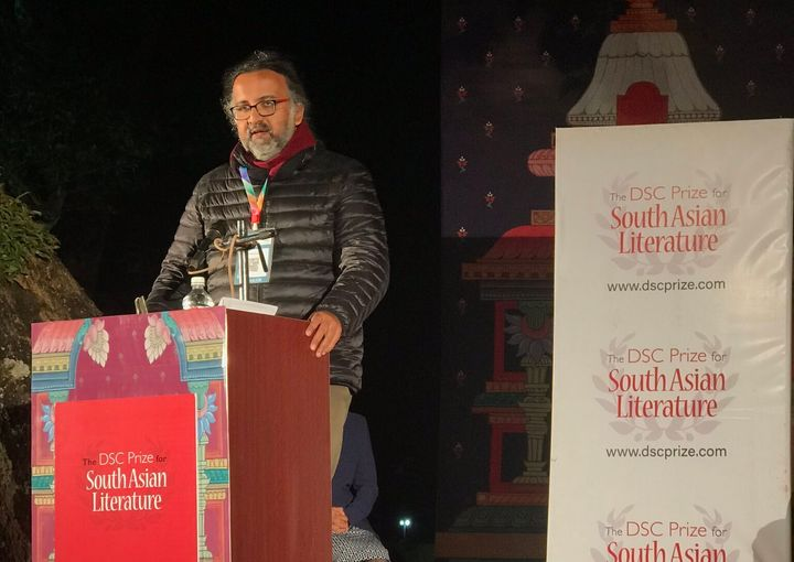 Amitabha Bagchi speaks after winning the DSC Prize 2019
