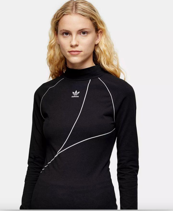 """<a href=""""https://fave.co/36JVPiJ"""" target=""""_blank"""" rel=""""noopener noreferrer"""">Black Trefoil Long Sleeve T-Shirt By Adidas, Topshop,</a> &pound;33"""