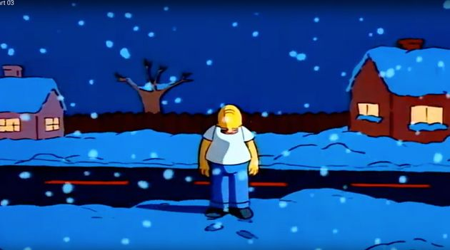 A crestfallen Homer fears for his family's Christmas in a heartbreaking