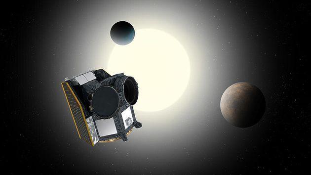 Le télescope spatial de l'ESA, Cheops, va scruter des exoplanètes connues pour mieux comprendre leurs...