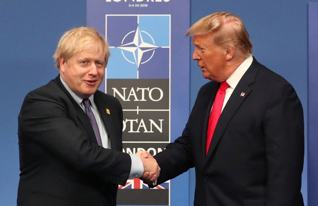 British Prime Minister Boris Johnson with US President Donald