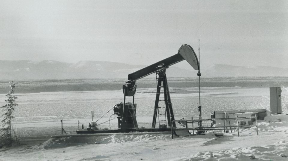 Imperial Oil pumping oil at Norman Wells, N.W.T. in