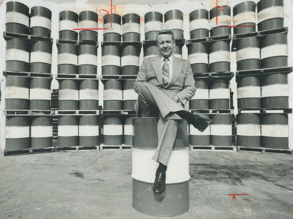 Every Canadian man, woman and child consumed on average each year the energy equivalent of these 49 barrels...