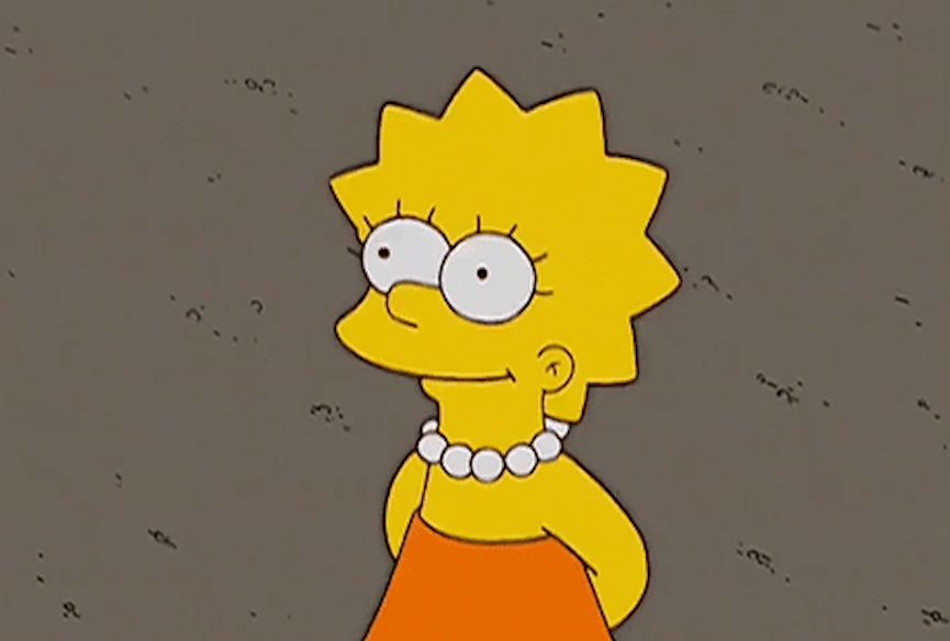 Lisa Simpson, the world's most famous 30-year-old