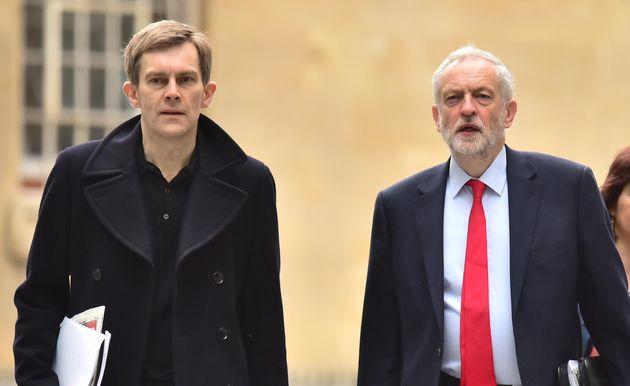 Seumas Milne and Labour leader Jeremy