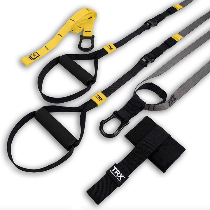 "<a href=""https://amzn.to/2LVhZqf"" target=""_blank"" rel=""noopener noreferrer"">TRX Training - GO Suspension Trainer Kit, Amazon,</a> &pound;79.95&nbsp;"