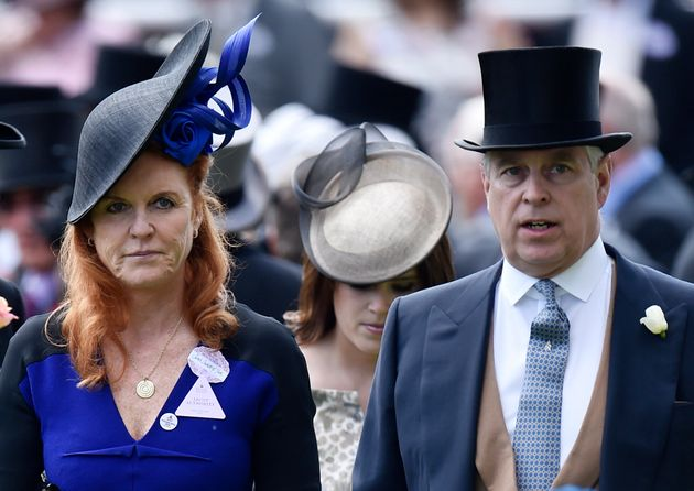 Sarah Ferguson, Duchess of York and Prince Andrew, Duke of York attend the races at England's Ascot Racecourse...