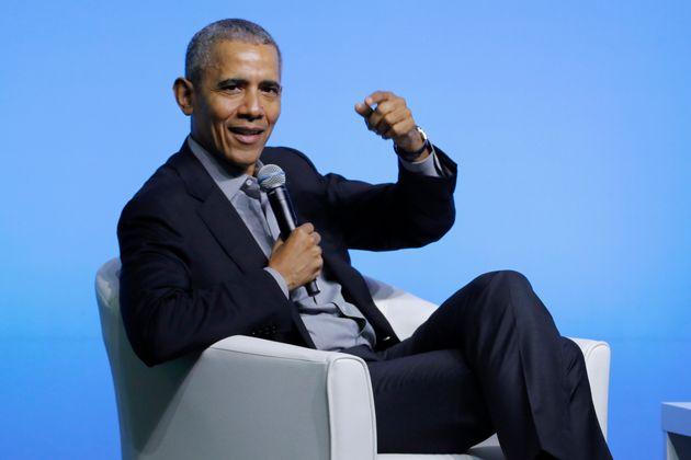 O ex-presidente Barack Obama em evento da
