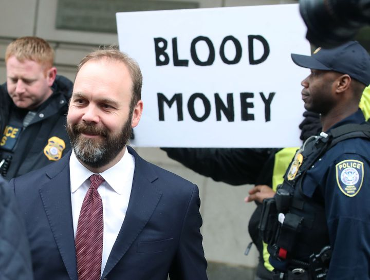 Rick Gates leaves the federal courthouse in Washington on Feb. 23, 2018, after pleading guilty to two criminal charges in Mue