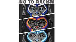 Cette campagne antiracisme dans le foot italien, représentant trois singes, ne passe