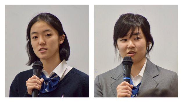 杉本絢香さん(左)と遠藤可奈子さん