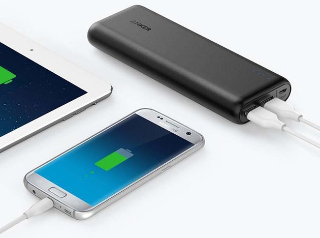The Anker PowerCore 20100 can't charge laptops, but it's very