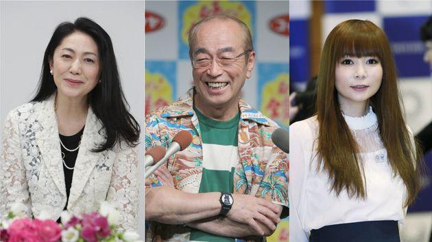 【左から】石川さゆりさん、志村けんさん、中川翔子さん