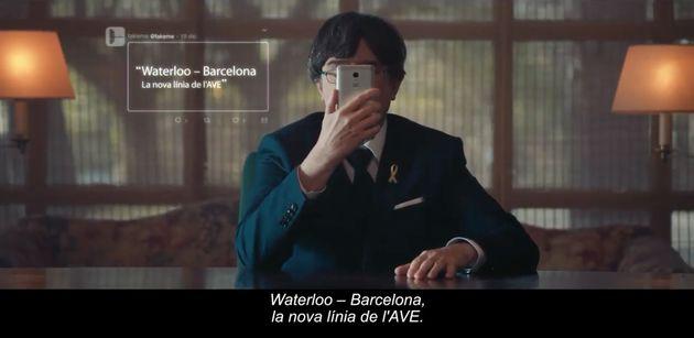 Un fotograma del anuncio de Campofrío