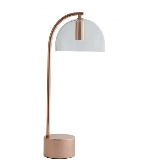 """<a href=""""https://fave.co/2PtWb74"""" target=""""_blank"""" rel=""""noopener noreferrer"""">Ivar Copper and Glass Touch Table Lamp,</a> was &pound;65, now &pound;52&nbsp;&nbsp;"""