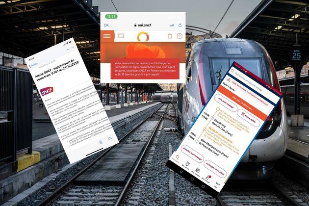 Les messages d'annulation de la SNCF pour le premier week-end des vacances de Noël ont exaspéré certains