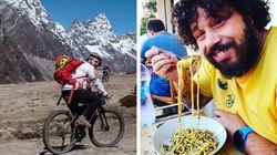A curiosa história do chef que roda o mundo em sua bike para cozinhar em locais