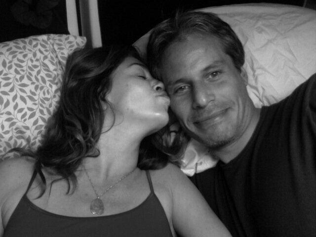 A selfie of Stevie Trujillo and her boyfriend, John, taken in 2009 in the van they called home.