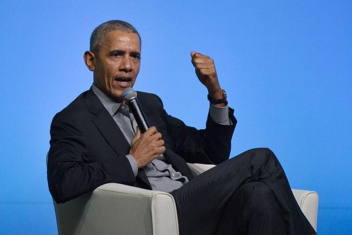 Former U.S. president Barack Obama is seen here in Kuala Lumpur on Dec. 13.
