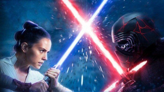 Rey yKylo Ren en 'Star Wars'.