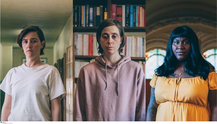 Florence Longpré, Ève Landry et Mélissa Bédard dans <em>M'entends-tu?</em>