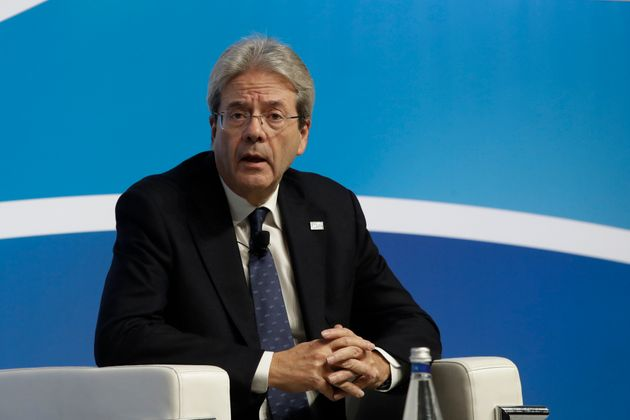 European Commissioner for Economy Paolo Gentiloni talks during the Mediterranean Dialogues conference...