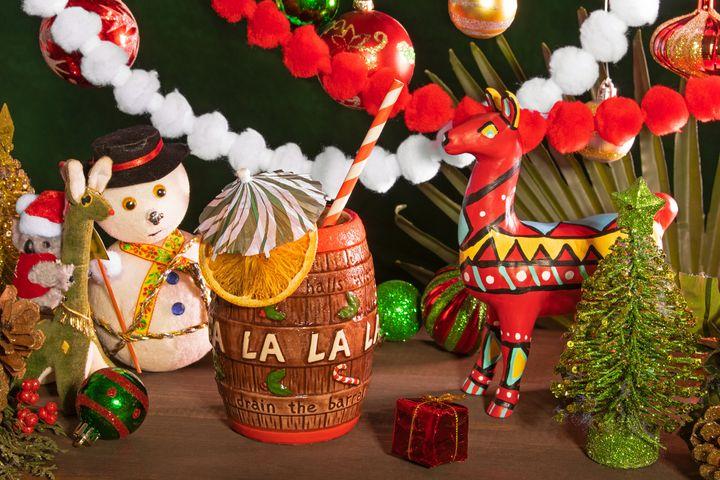 Christmas carol barrel.