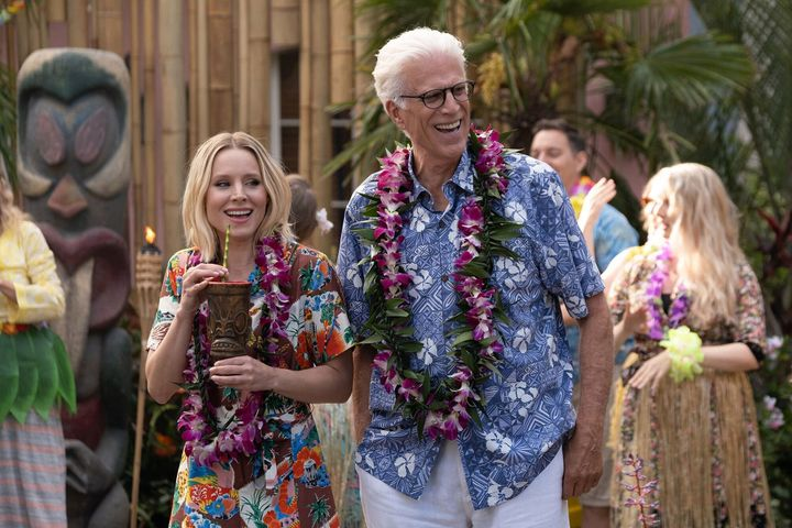 "Kristen Bell and Ted Danson in ""The Good Place"""