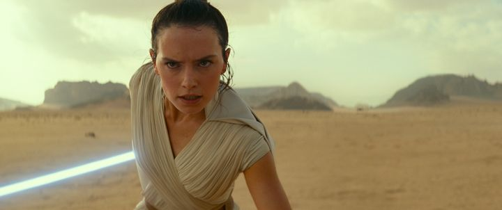"""Daisy Ridley in """"Star Wars: The Rise of Skywalker."""""""