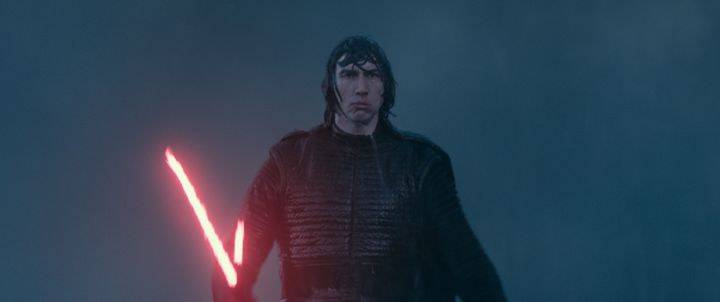 "Adam Driver in ""Star Wars: The Rise of Skywalker."""