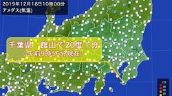 関東では20度を超えた場所も。12月中旬とは思えないほどの暖かさ