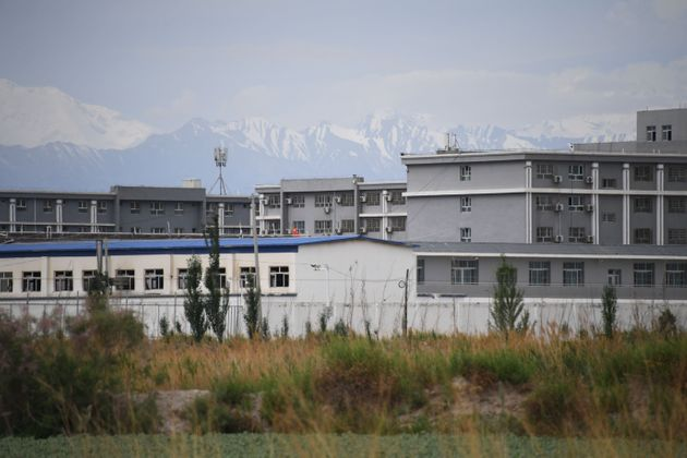 This photo taken on June 4, 2019 shows a facility believed to be a re-education camp where mostly Muslim...