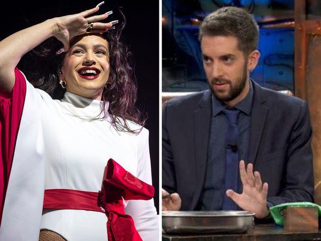 La cantante Rosalía y el presentador David