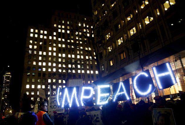 Manifestación a favor del 'impeachment' de
