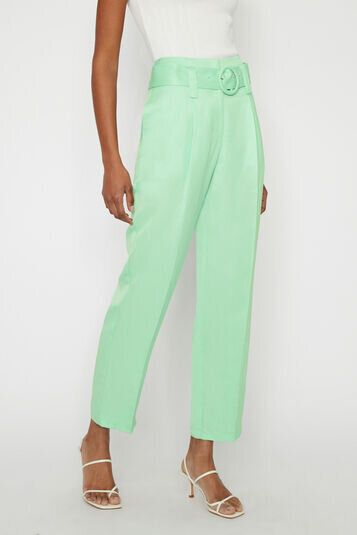 Pleat Belted Wide Peg Trousers, Warehouse, £18.33
