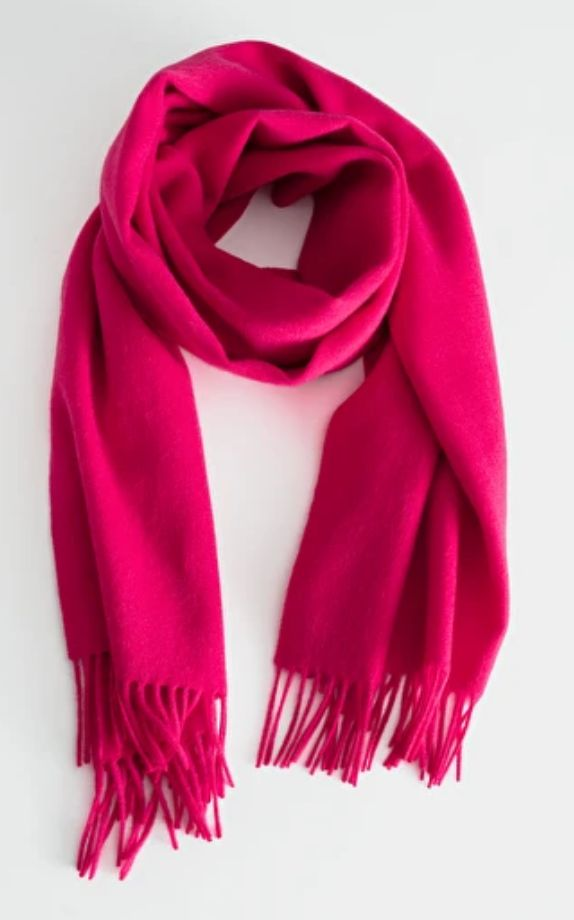 Wool Fringed Blanket Scarf, & Other Stories, £49