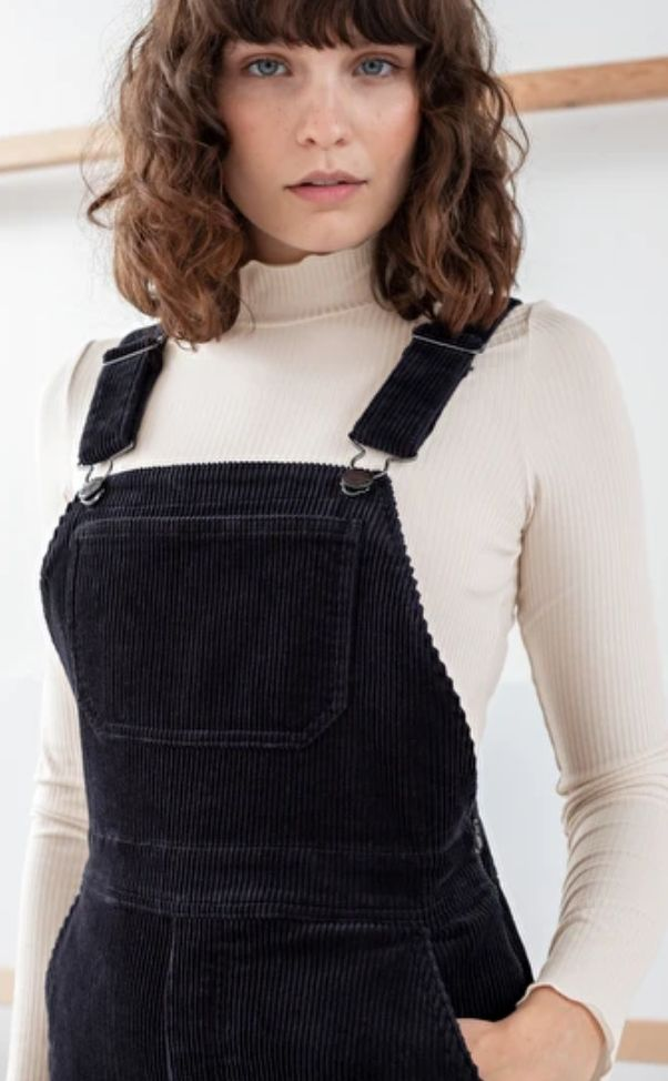 """<a href=""""https://fave.co/35yBrRp"""" target=""""_blank"""" rel=""""noopener noreferrer"""">Wide Corduroy Overalls, &amp; Other Stories,</a> &pound;49"""