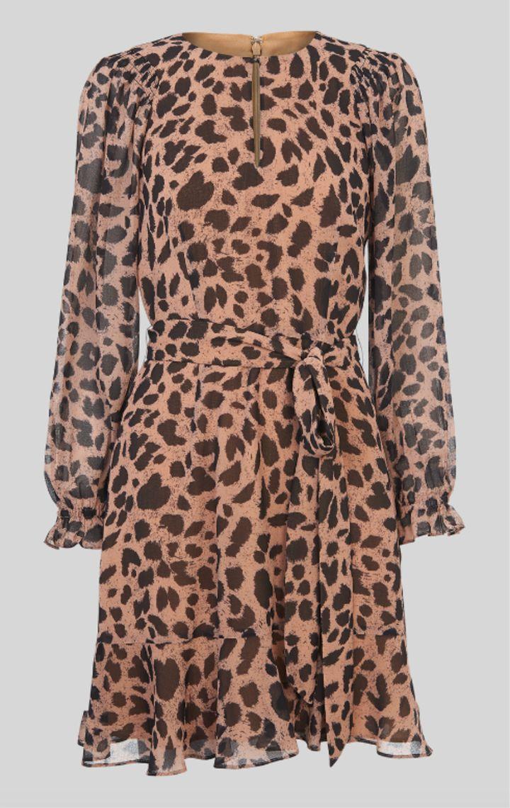 "<a href=""https://fave.co/36JVFYy"" target=""_blank"" rel=""noopener noreferrer"">Brushed Cheetah Flippy Dress, Whistles, </a>&pound;99&nbsp;&nbsp;"
