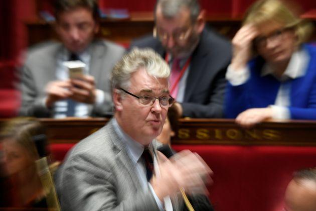 L'ex haut-commissaire à la réforme des retraites Jean-Paul Delevoye assiste à une séance de questions...