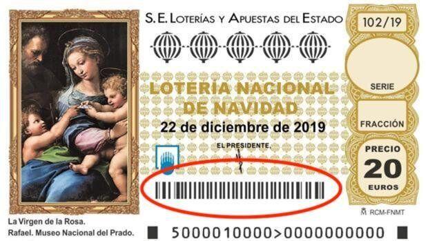 Décimo de la Lotería de