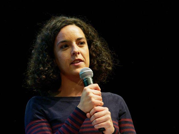 Manon Aubry lors d'un meeting contre la réforme des retraites le 16 décembre à