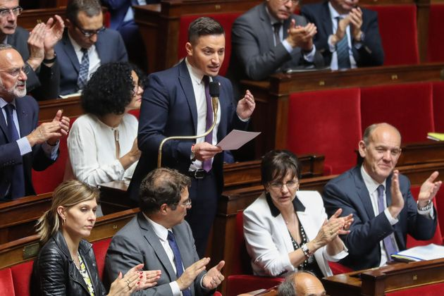 Maxime Minot, député LR, interpellant le gouvernement à l'Assemblée nationale...