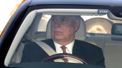 Prince Andrew Steps Out For Queen's Christmas Lunch At