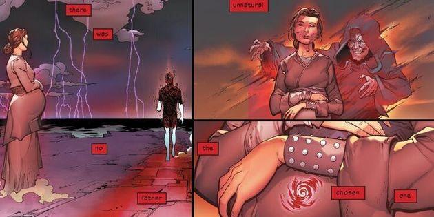 Dans ce comics, c'est Darth Sidious et non Darth Plagueis qui crée Anakin