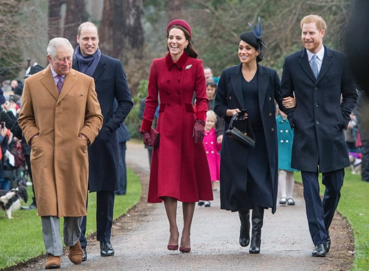 The Royals at Sandringham in 2018.