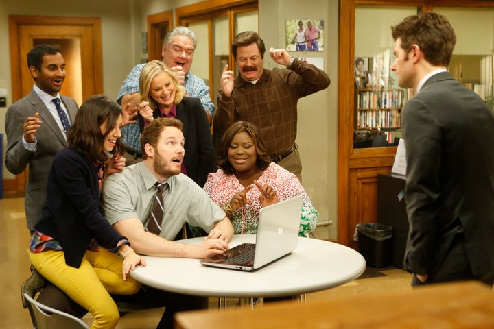 "The cast of ""Parks and Recreation"""