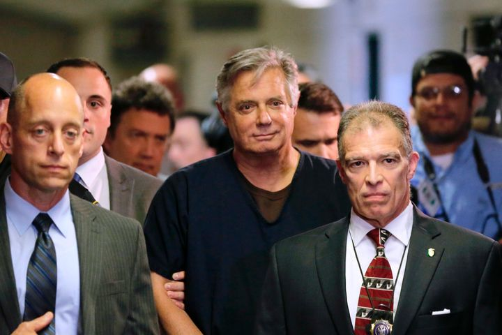 Paul Manafort arrives in court, Thursday, June 27, 2019 in New York. President Trump's former campaign manager is to be arrai