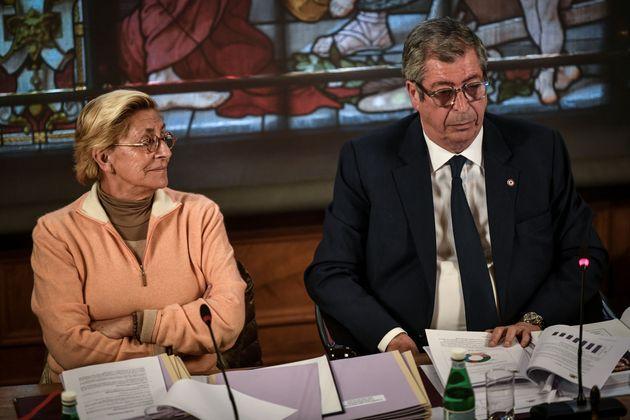 Patrick Balkany et Isabelle Balkany en conseil municipal à Levallois au mois